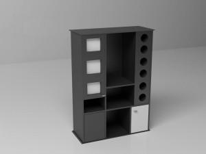 Black shelf