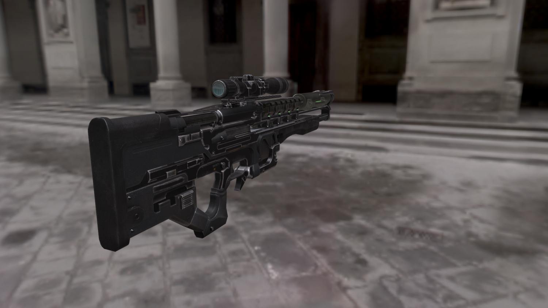 The Weapon Gauss Gun 3D Model in Combat 3DExport