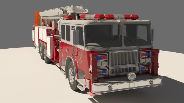 Rescue Fire Truck 3D Model in Heavy Equipment 3DExport