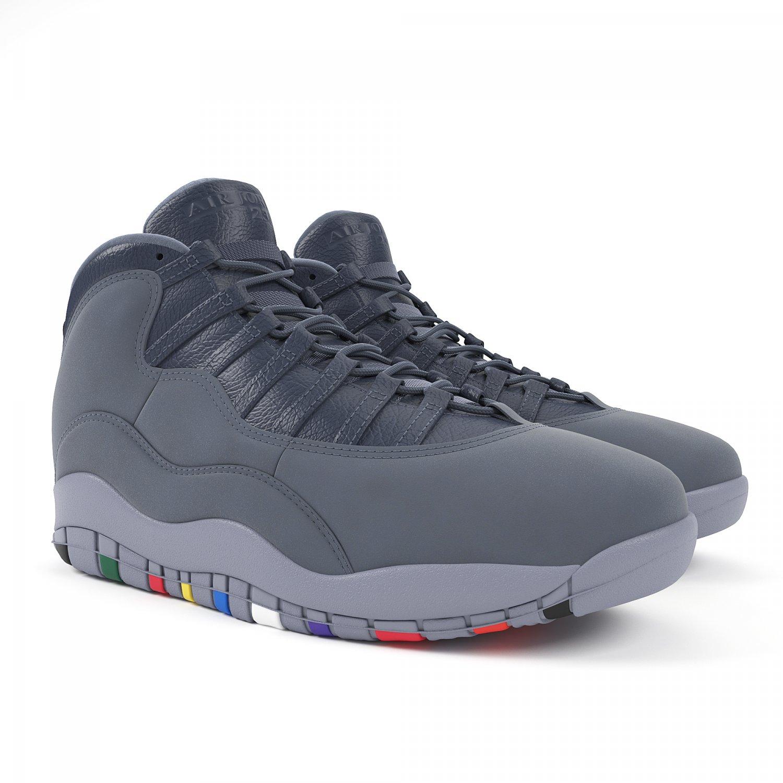 785b1341cdfad4 Air Jordan 10 Retro Nike 3D Model in Clothing 3DExport