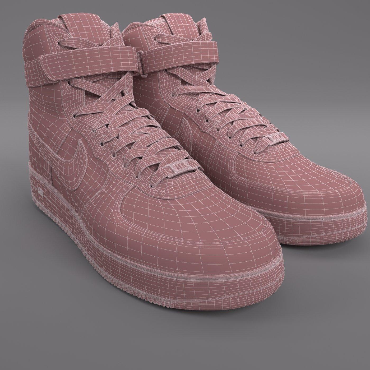 Air Force 1 Nike PBR 3D Model in Clothing 3DExport