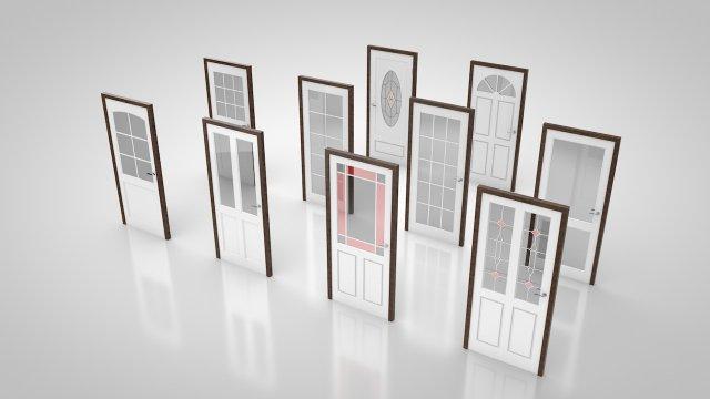 Door collection no2 3D Model