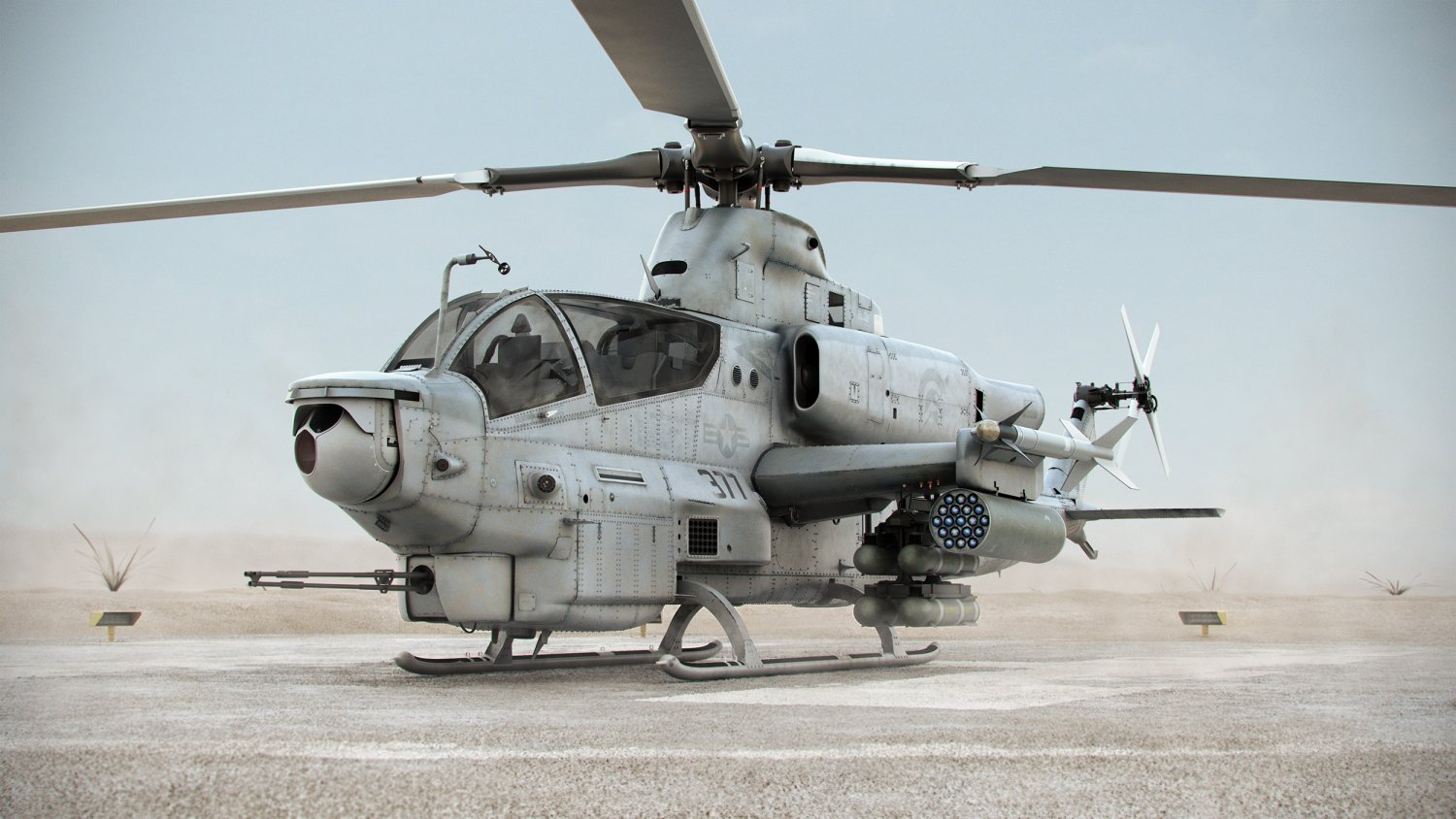 Bell ah 1z viper attack helicopter 3d model in helicopter 3dexport publicscrutiny Images