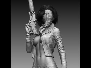 Killer Woman High Poly