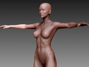 Woman T-pose