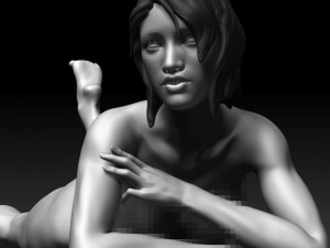 Sexy Posed Woman 4 Zbrush Sculpt