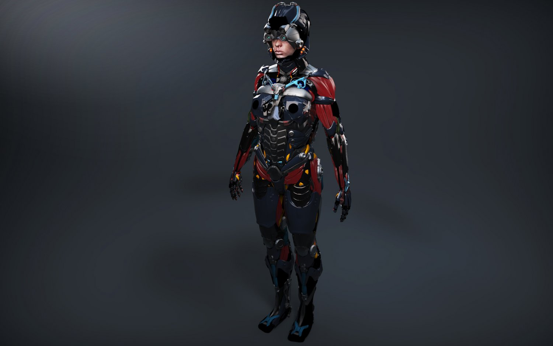 Sci-fi Female Character 3D Model in Woman 3DExport