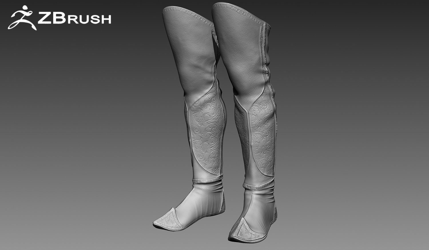 Zbrush Boots 3D Model in Clothing 3DExport