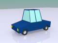 Low Poly Toon Car Model