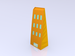 Low Poly Toon Building 1
