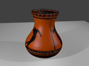 Ethnic vase with Greek ornament