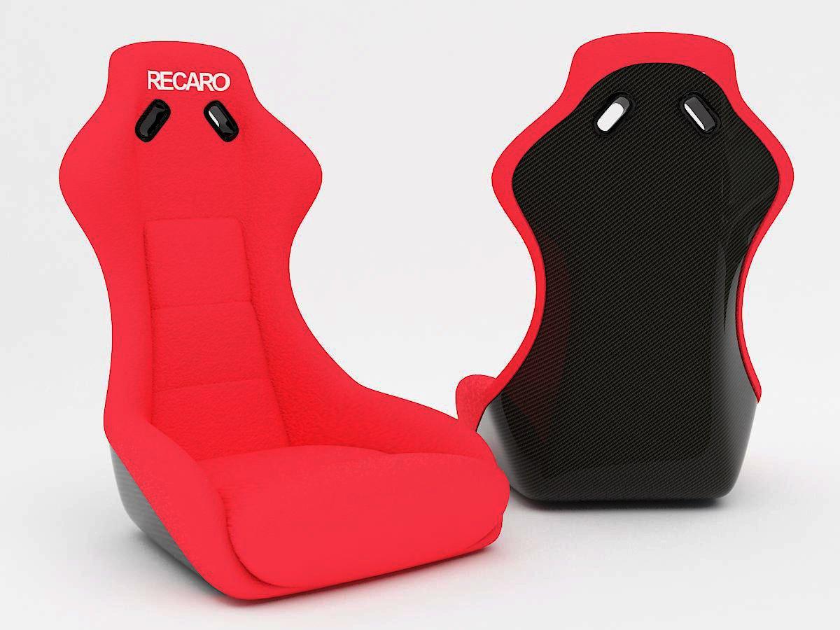 Recaro car seat 3D Model in Parts of auto 3DExport