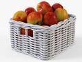 Wicker Apple Basket Ikea Byholma 1 White