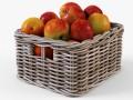 Wicker Apple Basket Ikea Byholma 1 Gray