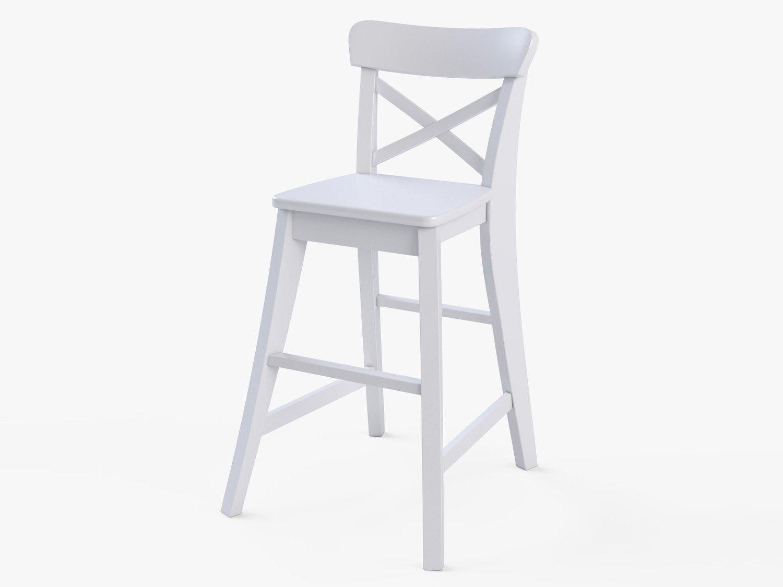 junior chair ikea ingolf white 3d model in stool 3dexport