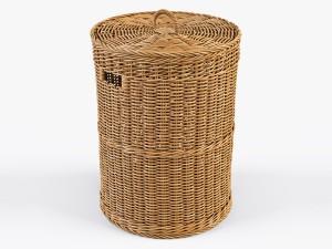 Wicker Laundry Basket 02