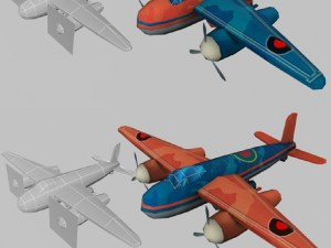 Plane low-poly for games