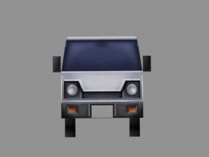 Truck model low-poly for games