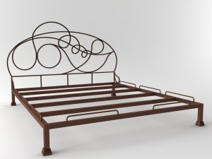 Bed from metal