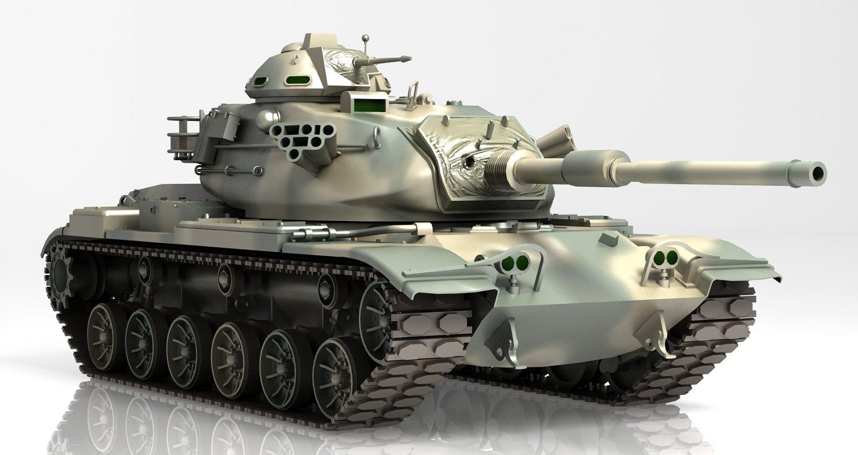 gun tank m60 patton iv 3dモデル in タンク 3dexport