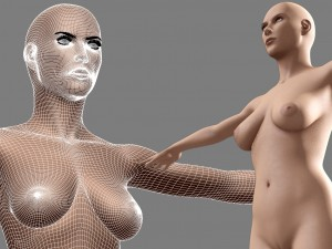 Realistic Sexy Woman