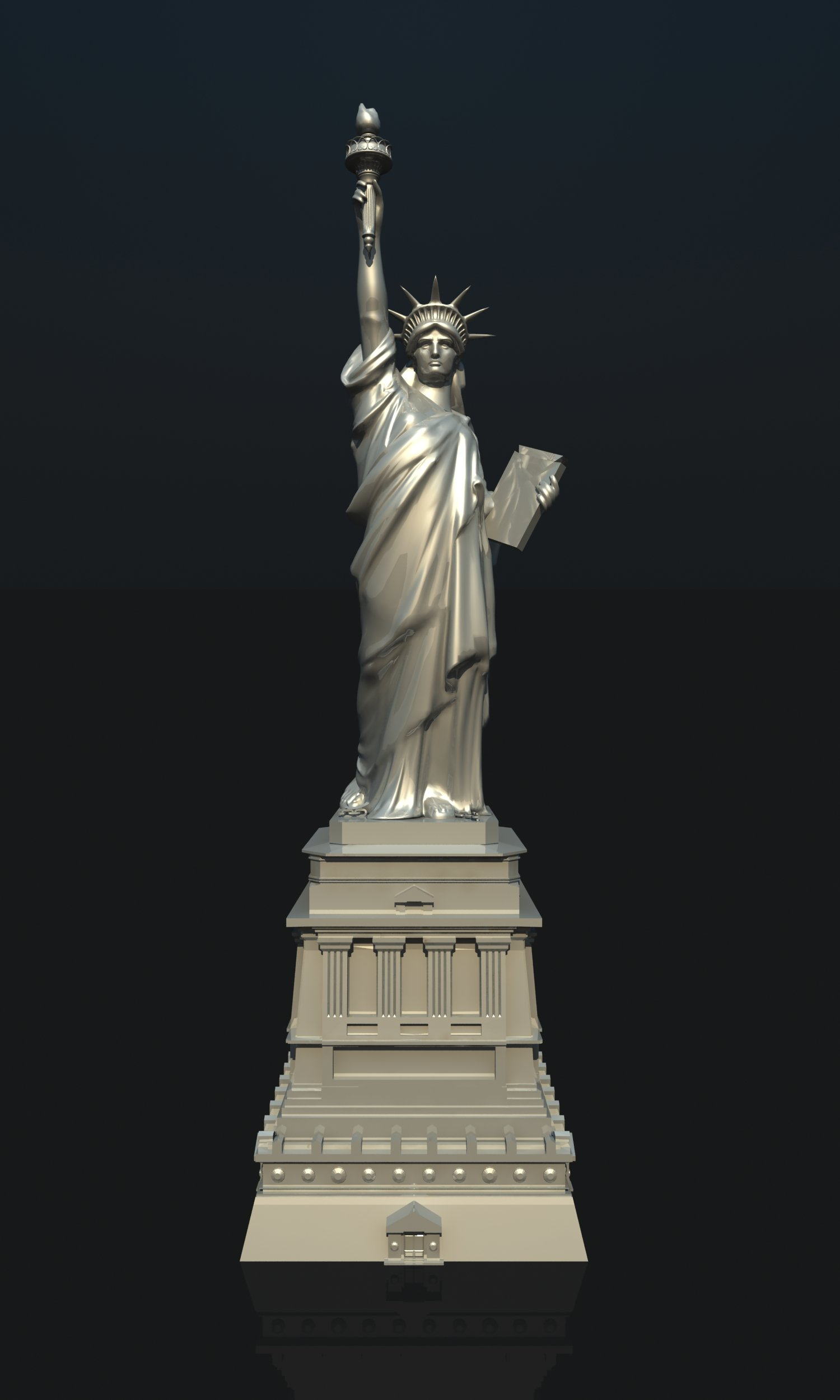 statue of liberty usa 3d model in miscellaneous 3dexport