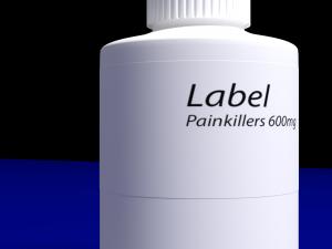 Painkiller-medicine bottle