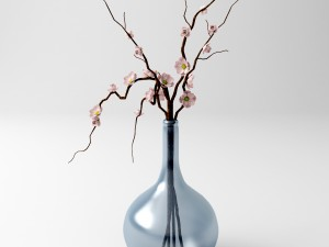 Vase with branches and flowers