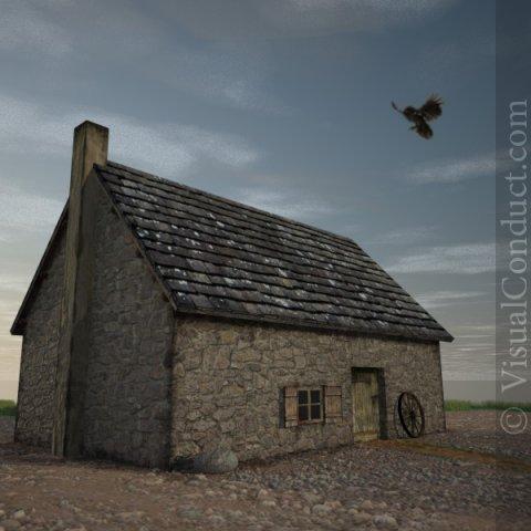 Medieval FarmHouse 2 3D Model
