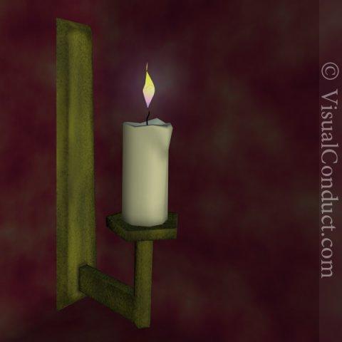Candle Stick 3D Model
