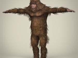 Low Poly Realistic Sasquatch