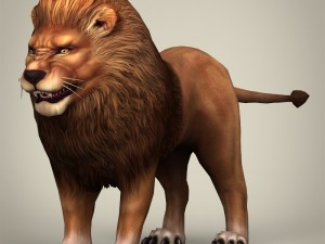 Game Ready Realistic Lion