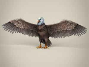Low Poly Realistic Eagle