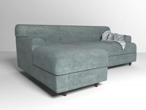 Velvet fabric sofa