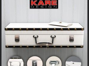 Shelf Kare Wall Shelf Suitcase White 1Drw 78364