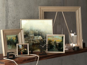 Decorative set with pictures Hsin-Yao Tseng