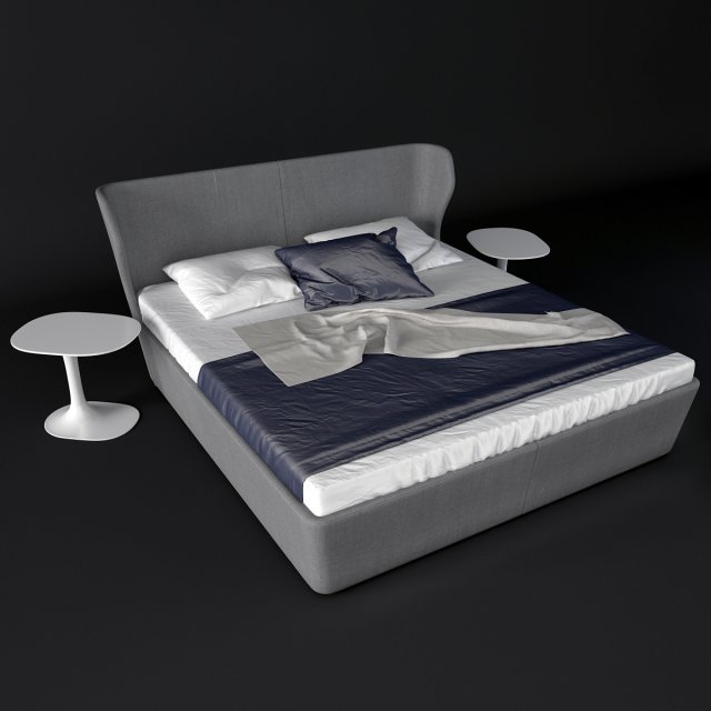 BB Italia PAPILIO bed 3D Model