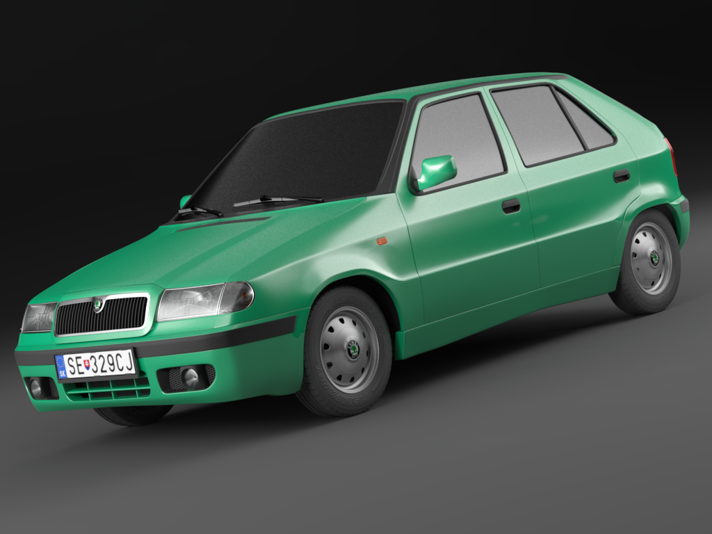 Skoda Felicia Facelift 98 01 Exterior Only 3d Model In Compact Cars 3dexport