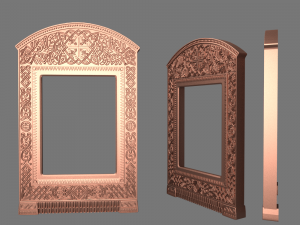 Byzantine icon frame case