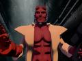 Hellboy rigged model for animation in Blender 3D Model