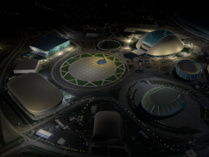 Low poly Sochi 2014 Olympic Park