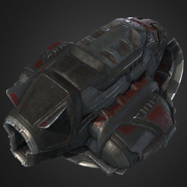 GameReady Pirates SpaceShip D Model In Fantasy Spacecraft DExport - Spaceship design game