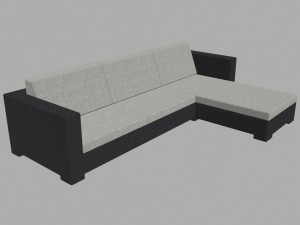 Sofa low poly
