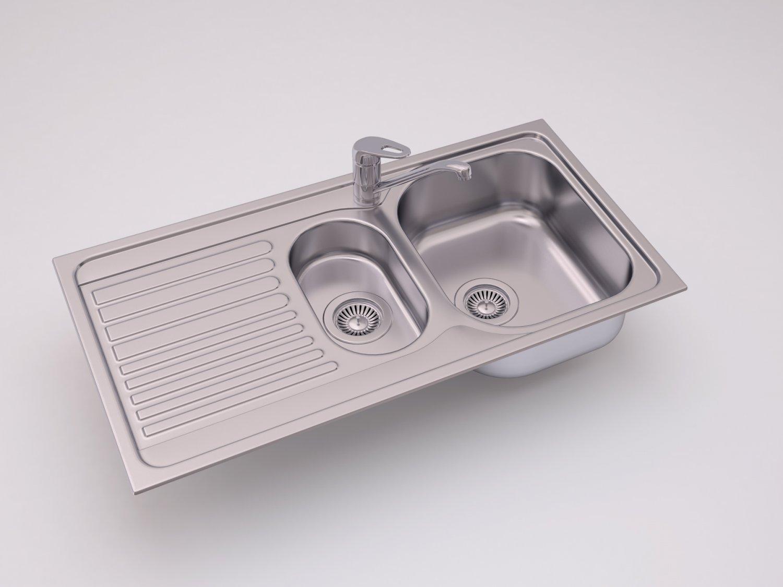 Kitchen sink Blanco TIPO 6S Basi 3D Model in Cookware Tools 3DExport