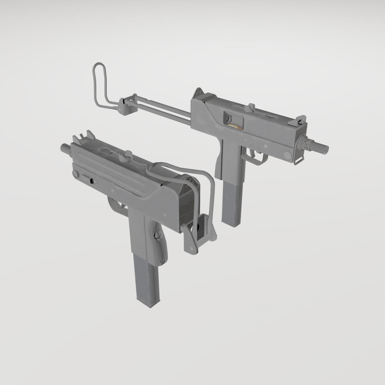 Mac 10 3D Model in Submachine Guns 3DExport