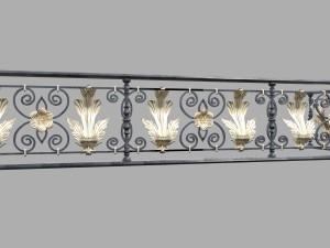 Forged decorativ railing