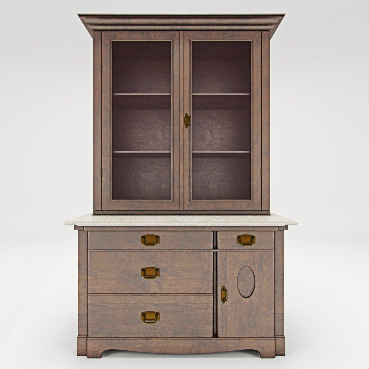 Antique Cabinet A 3D Model in Shelving 3DExport