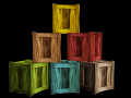 Wooden crate lowpoly