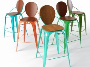 Louix bar chair with backrest