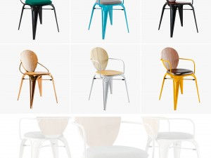 Louix chair soft and wood seat